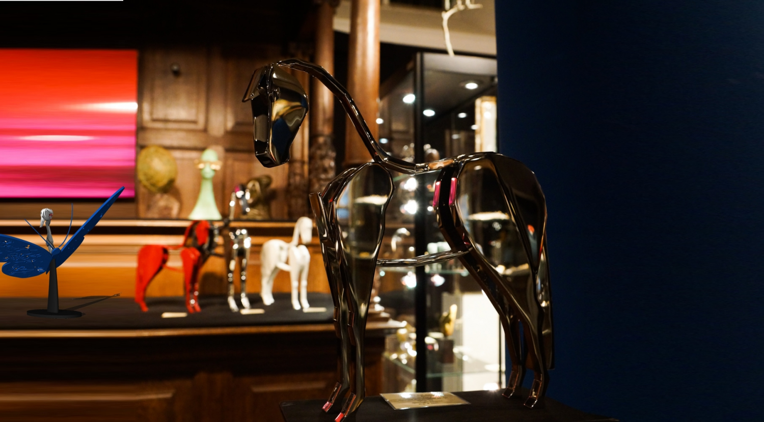 horse  stainless steel 33 cm